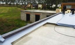 Réalisation de l'étanchéité d'un maison cubique à Lille